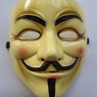 Mask Anonymous Vendetta Topeng Cream Action Figure Cosplay