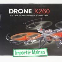 WL quadcopter XK X260 A 5.8G FPV-lihat video live di remote