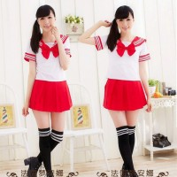 Seifuku Set 5 RED ,Import Taobao,Lingerie, Sleepwear,Cosplay