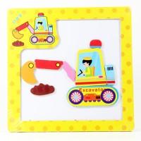 harga Puzzle Magnetic Kayu Mainan Edukatif Edukasi Anak - Excavator Backhoe Tokopedia.com