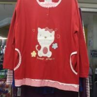 Stelan Baju Tidur Pp Merah