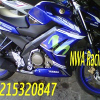 Half Fairing New Vixion Movistar Edition Biru