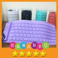 Keyboard Flexibel USB untuk PC Komputer dan Laptop Siap Pakai