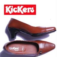 harga Sepatu Pantopel Wanita Kickers Cleopatra Leather Tokopedia.com
