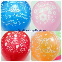Balon latex motif HBD happy birthday / souvenir dekorasi ultah lateks