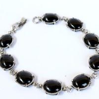 harga Gelang Batu Onyx Hitam Monel Silver - Gelang Batu Onyx Tokopedia.com