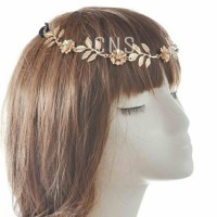 Headchain headband rantai gold flower headpiece greece style