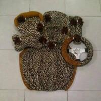 Bantal Mobil 8 in 1 Boneka MR BEAN Motif Leopard