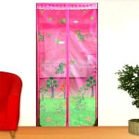 Lotus [P] Press - Pink Baby Zebra - Tirai Pintu Magnet Anti Nyamuk
