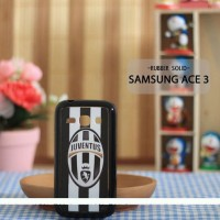 Casing HP Custom Rubber Solid Samsung Ace 3 Juventus