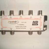 Splitter 8 Way untuk TV Kabel Kaonsat CATV-8W (Frekuensi 5-1000 MHZ)