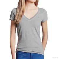 Hollister V-Neck | Pakaian Wanita Branded Kaos Atasan Lengan Pendek