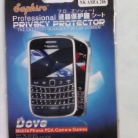 Anti Gores Spy Black Hitam Nokia Asha 206