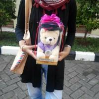 Jual Boneka Wisuda 20cm Custom +Nama Pake Pin Murah