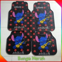 harga Karpet Mobil Stitch Disney Red Flowers (high Quality) Tokopedia.com