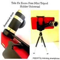 Tele 8x Zoom Bracket/Holder Universal Free Mini Tripod (Manual Focus)