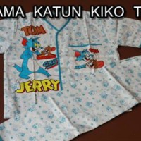 Piyama Katun Anak Motif Tom & Jerry Size 7,8,9