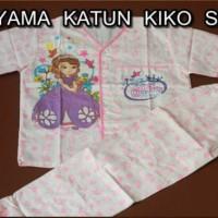 Piyama Katun Anak Motif Princess Sofia Size 7,8,9