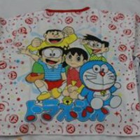 Piyama Katun Anak Motif Doraemon Size 4,5,6