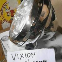 harga Reflektor/ Lampu Depan/ Headlamp Assy Vixion Lama Bulat Chrome Tokopedia.com