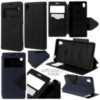 harga Jual Roar Leather Flip View Window Soft Cover Case Sony Xperia M4 Aqua Tokopedia.com