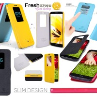 Jual Nillkin Fresh Quick View Window Flip Book Cover Casing Case LG G2