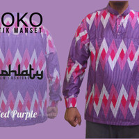 Koko Batik Manset Red purple