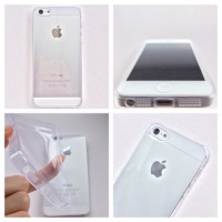 IPHONE 5 5S ULTRA THIN JELLY SOFT CASE CASING COVER CLEAR BENING TIPIS