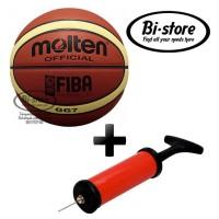 Bola Basket Molten GG7 KULIT + Pompa HARGA MURAH Kualitas Mantap!