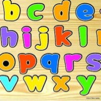 Mainan Edukatif / Edukasi Anak - Balok Kayu Puzzle Sticker Huruf Kecil