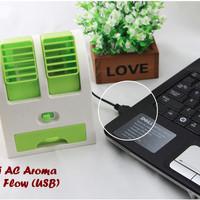 Mini AC Aroma (Dual Flow,dilengkapi kabel colokan USB & mutiara aroma)