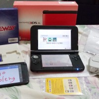 3DS XL RED *Like NEW + GATEWAY = READY TO PLAY GAN