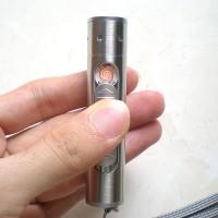 Korek Api Elektrik ( USB Lighter) + Senter Batu Cincin