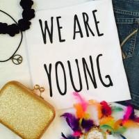 Kaos Cewek - TUMBLR TEE CEWEK - WE ARE YOUNG (WHITE)