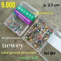 harga Mini Jarum Pentul Premium Newey Warna Warni Doff Isi 80 Tokopedia.com