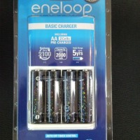 Jual Eco Eneloop Charger include 4 Batre / Batere / Baterai / Battery Sanyo Eneloop AA / A2 2000mAh 1500x (batre Made In Japan)