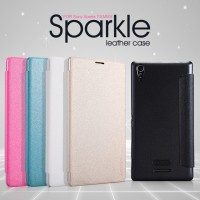 Nillkin Sparkle Leather Flip Cover Case Sony Xperia T3