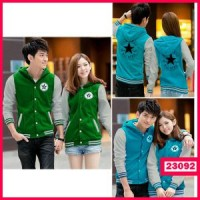 Jaket Pasangan Couple All Star Converse Hijau Biru