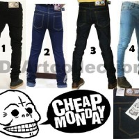 CELANA JEANS PENSIL CHEAP MONDAY ALL COLOR (HITAM,ABUABU, ALL) N SIZE