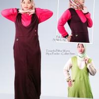 Busana Muslimah | Gamis Sanari | SG-2005 | Hijau Pandan-Coklat Susu