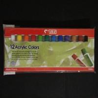 Cat Acrylic Titi 12 Warna AC-12ML-12