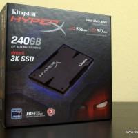 Kingston HyperX 3K SSD 240GB (R : 555; W: 510)