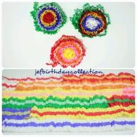 Kertas krep kerut dekorasi pesta ulang tahun / ultah warna warni