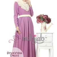 Gamis Nuhijab Diva Vida Dress (dvd) - Purple