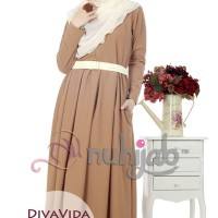 Gamis Nuhijab Diva Vida Dress (dvd) - Mocca