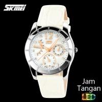 Jual Jam Tangan Analog Wanita Bulove SKMEI Diamond 6911 Putih Original