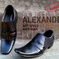 Sepatu Kerja Pantofel Kantor Pria Formal Kulit Asli Hitam Premium SP01