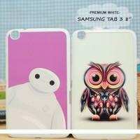 Casing HP Custom Premium White Samsung Tab 3 8 Inch Baymax & Owl