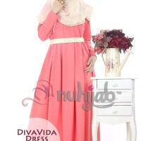 Nuhijab Dress Diva Vida Dress (dvd) / Baju gamis original syar'i
