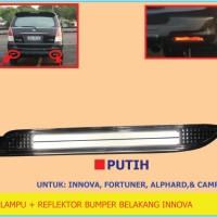Lampu + Reflektor Bumper Belakang Innova/ Fortuner, Alphard & Camry